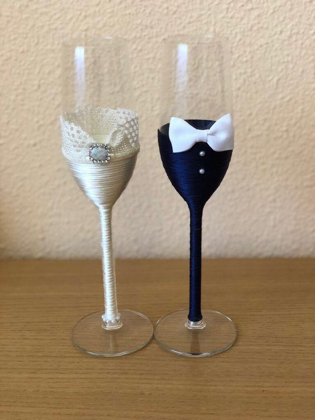 copas decoradas para boda de segunda mano por 20 en madrid en wallapop. Black Bedroom Furniture Sets. Home Design Ideas