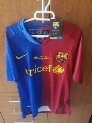 camiseta del Barcelona final de Roma
