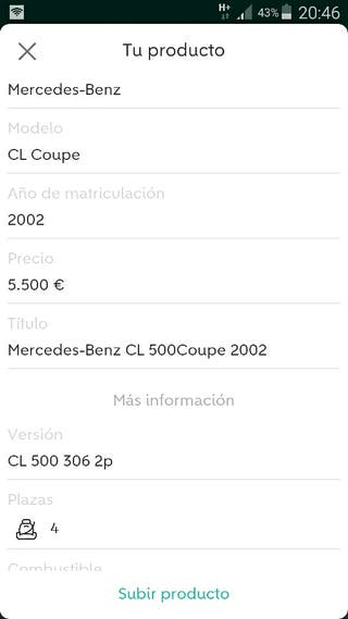 Mercedes-Benz CL 500Coupe 2002