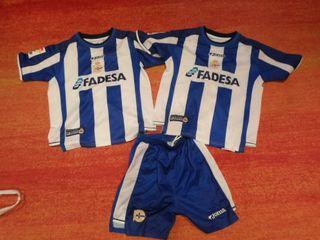 2 camisetas deportivo la coruña y pantalon t10