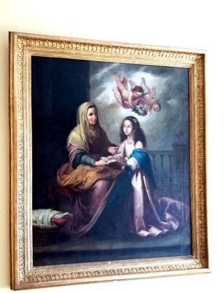Santa Ana con la Virgen niña,oleo sobre lienzo.s.X