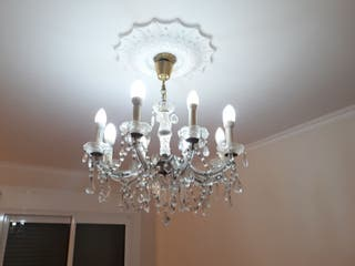 Lámparas techo cristal