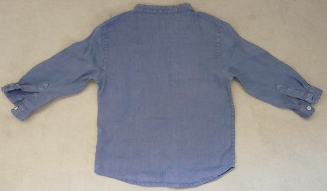 Chemise en lin bleu Bout'chou 24 mois