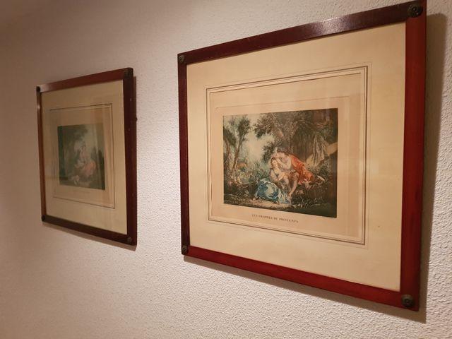 Cuadros antiguos con precioso marco de segunda mano por 20 en torrelodones en wallapop - Marcos clasicos para cuadros ...
