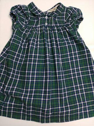 """vestido niña talla 4 años marca """"canela"""" cuadros"""