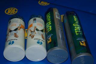 Lote de 4 paquetes pelotas Tenis sin uso-WILSON