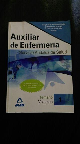 libros de oposiciones de auxiliar enfermeria SAS