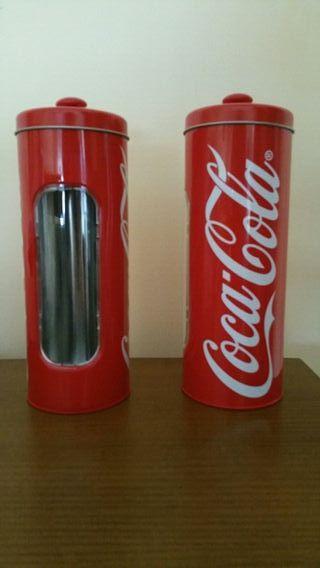 Bote portapajitas Cocacola