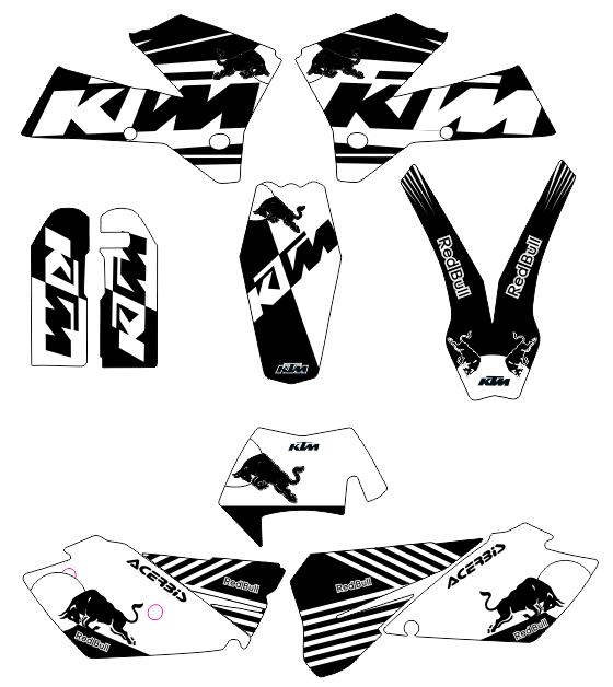 ADHESIVOS KTM 2005, 6, 7