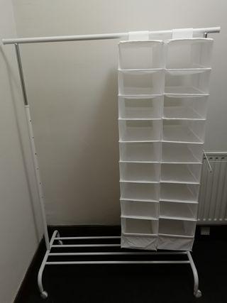 Clothes rack + shoe organizer