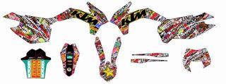 ADHESIVOS KTM EXC SX 14-15