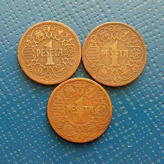 1944 Moneda 1 peseta