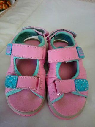 sandalias verano niña rosas numero 23