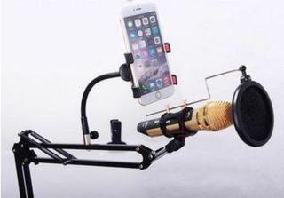 Soporte mesa micrófono estudio