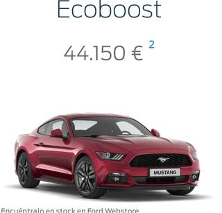 Ford Mustang 2.3 ecoboost 11/2015