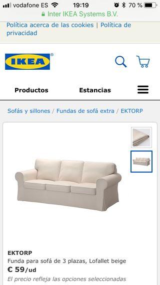 Funda sofá Ikea color amarillo mostaza y verde
