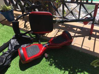 Hoverboard, silla y bolsa