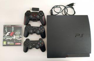 Consola PS3 PlayStation 3 + 3 Mandos + 2 Juegos