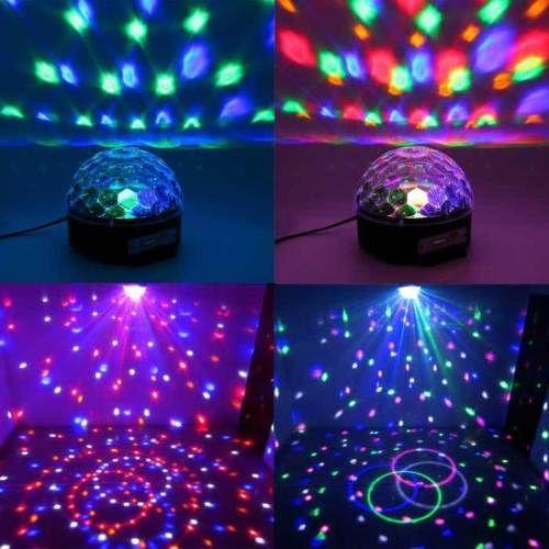 ea0f3fa773c Altavoz bluetooth proyector luces disco led usb de segunda mano por ...