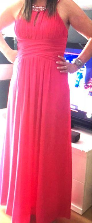 Vestido fiesta rosa fucsia nuevo una vez usado