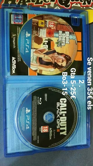 gta5 y black ops 3 para ps4