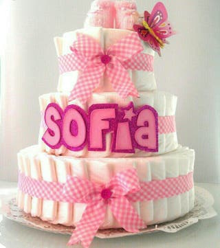 tarta pañales