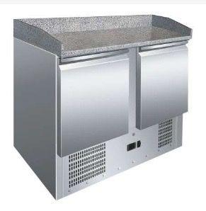Mesa GN1/1 preparación pizza encimera granito