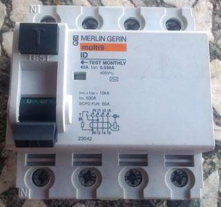 Interruptor Diferencial 4p, 40A, 30mA