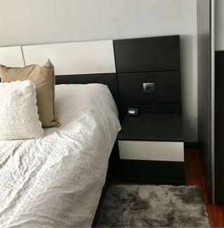 Mueble dormitorio: cabecero+2 mesillas+armario