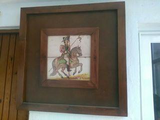 Cuadro de madera buena el cuadro pesa