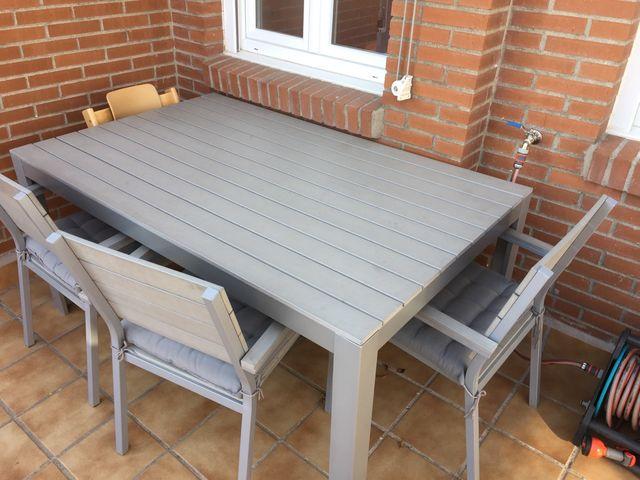 Conjunto mesa sillas y banco ikea jardin de segunda mano for Conjuntos de jardin ikea