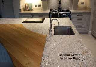 Colonial Ivory Granite Kitchen Worktop in London
