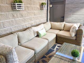 Cojines para sofa de jardin