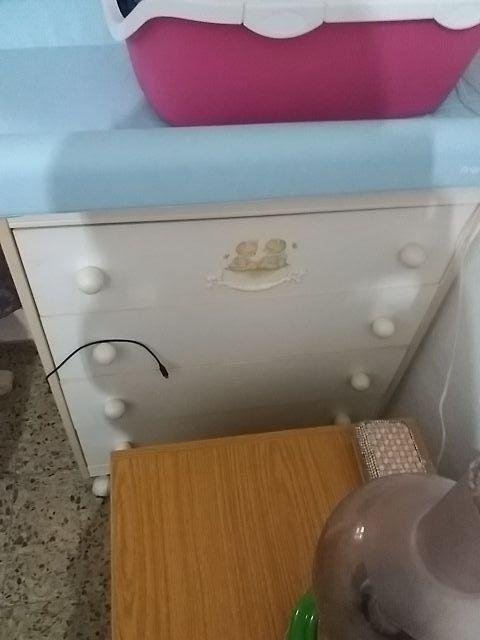 bañera bebe cambiador con mueble y tres cajones