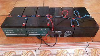 10 baterias 12v, 12A, moto, patineta, etc