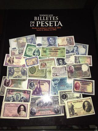 Libro billetes de la peseta