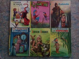 Libro cuentos de hadas, lote 6 libros x 5 €