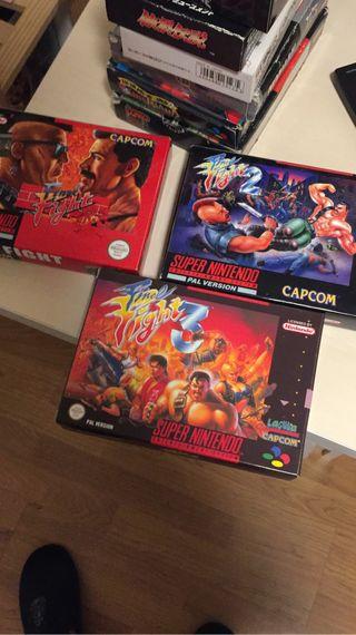 Final fight 1,2 y 3 Jap-----30€ UNIDAD
