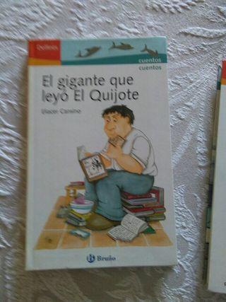 Libro infantil el gigante que leyó el Quijote