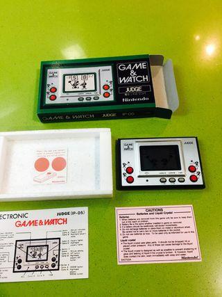 Maquinita game watch nintendo judge verde,green,spectrum,amiga,juguete antiguo,msx