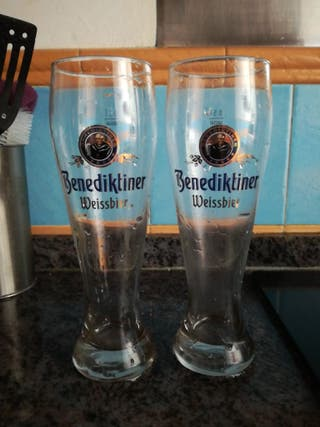 Vasos de cerveza alemana