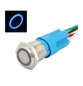 Boton metalico led colores