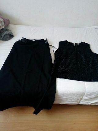 traje de dos piezas