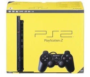 PlayStation 2 Slim en su caja