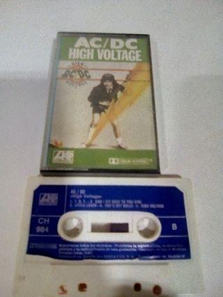 cassete de musica AC DC 1976