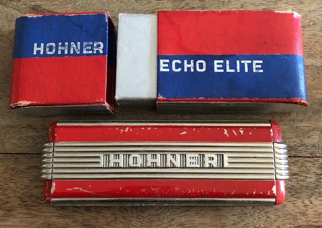 """Harmonica HOHNER écho élite double """"collector"""""""