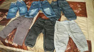 Lote pantalones bebe 6-9meses