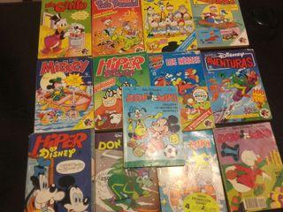 Lote de 13 tebeos de Walt Disney años 80
