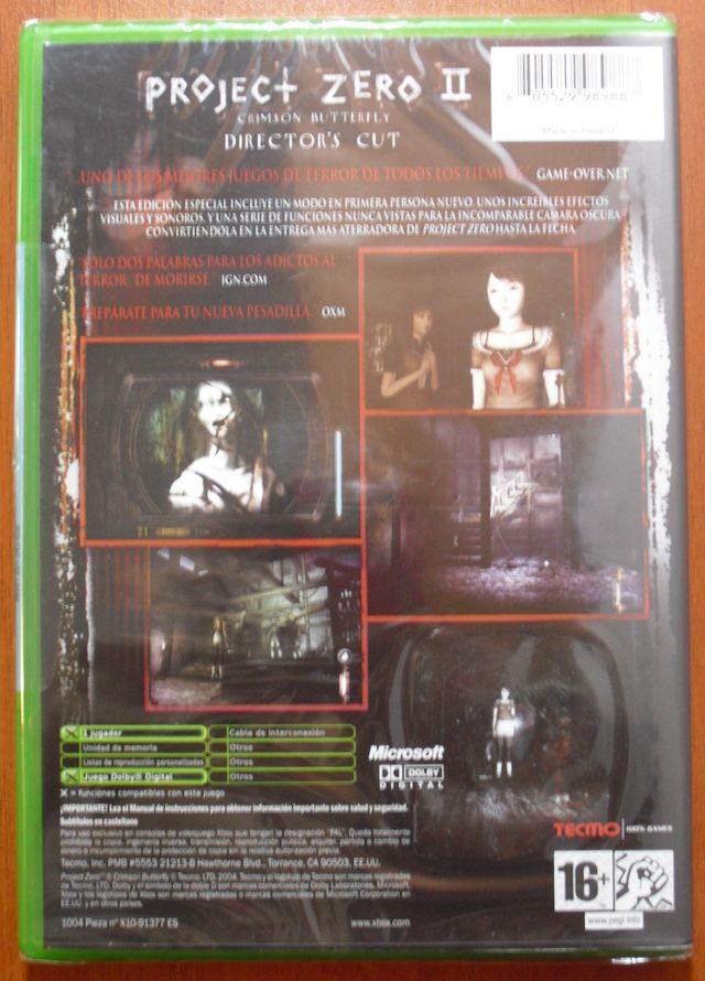 Project Zero II Crimson Butterfly Xbox & 360 NUEVO de segunda ...