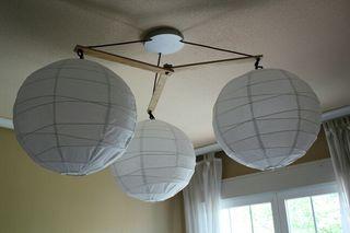 3 bolas de papel - lámpara